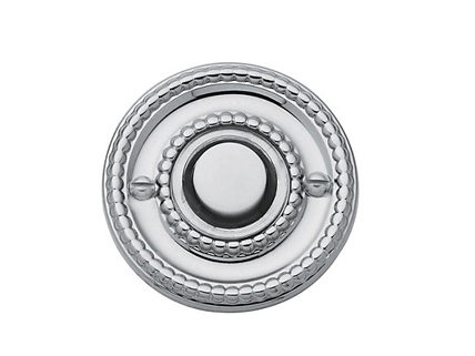 Polished chrome rope pull button